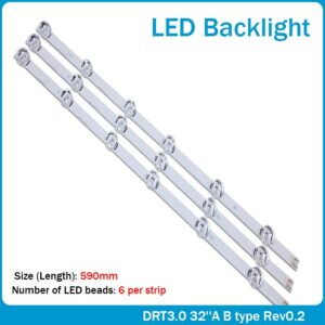 "3x LED Backlight for LG innotek Drt 3.0 32""_A/B 6916l-1974A 1975A 32MB25VQ lv320DUE 32LF5800 SUNG WEI 55VO E74739 59cm 6 Lamps"