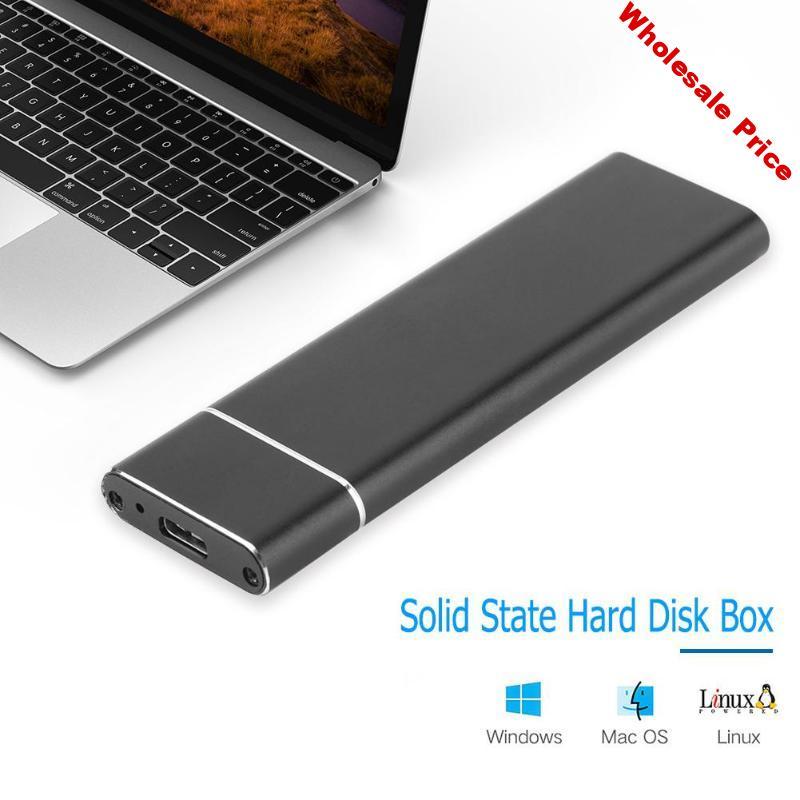 M.2 NGFF SSD 6Gbps to USB 3.1 Type-C HDD Converter Adapter Enclosure Case Solid State Hard Disk Box For m2 SATA SSD USB 3.1