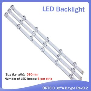 "100%New 3 PCS(2*A 1*B) LED backlight strip for LGIT A B LG innotek DRT 3.0 32""A B WOREE TV 32MB25V 6916l-1974A 1975A 2223A"