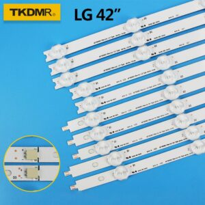 "TKDMR LED Backlight strip For LG 42inch 42""ROW2.1 TV 6916L-1412A 6916L-1413A 6916L-1414A 6916L-1415A 42LN542V 42LN575S 42LA6"