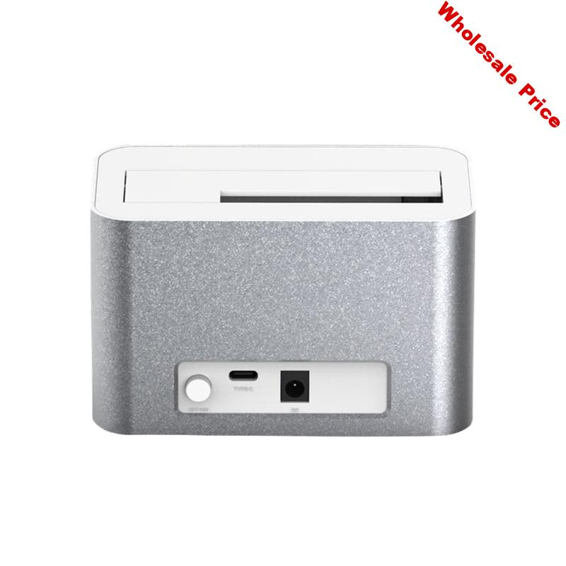 HDD Docking Station Type C USB3.1 Max 10Gbps Full Aluminum Max 8TB Hard Disk Drive Plug And Play Mechanical Disk Docking Station