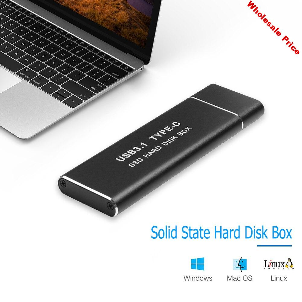 NEW Key SSD Enclosure Kit GEN2 M Household Computer 10Gbps M.2 NVME PCIe to USB3.1 Safety Parts for 2230/2242/2260/2280