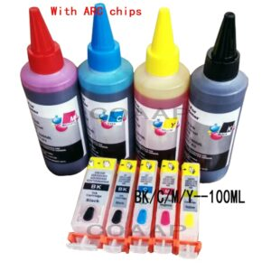 5x Refillable canon 520 521 ink cartridge for PIXMA MP 540 545 550 558 560 568 620 630 640 640R 648 printer