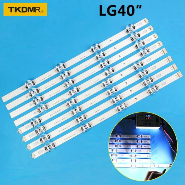 New Kit 8 PCS LED Backlight strip For LG 40LF630V 40LF570V INNOTEK 40 DRT4.0 DRT 4.0 3.0 40 inch A B SVL400 6916L-0885A 0884A