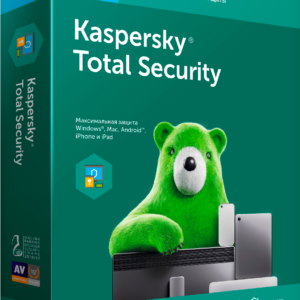 Kaspersky Total Security Antivirus all devices license extension 2 device 1 year bag loading