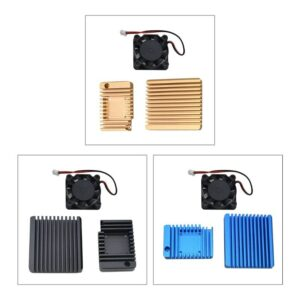 Metal Enclosure Cooling Case Cover with Cooling Fan for NanoPi R2S Mini Router
