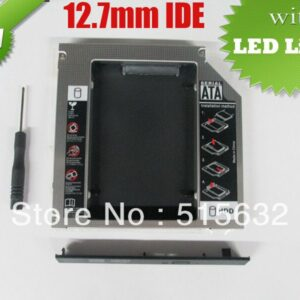 new high quality IDE to SATA Hard Drive Caddy to Optical CD Bay Adapter 12.7mm universal 2nd HDD Caddy with LED light
