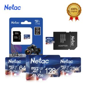 Netac Micro SD Card Memory Card Class10 UHS-1 256GB 128GB 512GB 64GB 32GB 100MB/S Microsd Micro SD Flash Card Microsd TF/SD Card