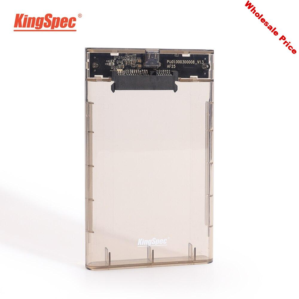 New arrival KingSpec 6Gbps SATA ssd enclosure USB 3.0 7mm 5Gbps SSD Hard Drive Box External 9.5mm for 2.5 inch SATA SSD HDD