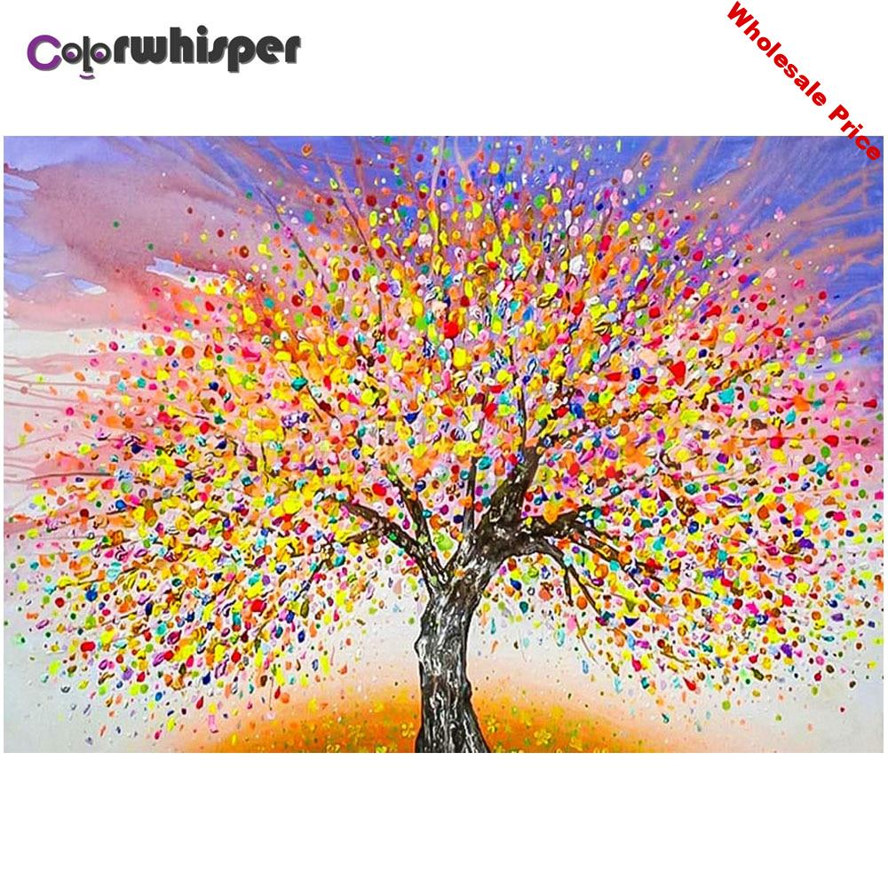 Diamond Painting Full Square/Round Drill Tree 5D Daimond Painting Embroidery Cross Stitch Mosaic Crystal Picture Wall Art TH062