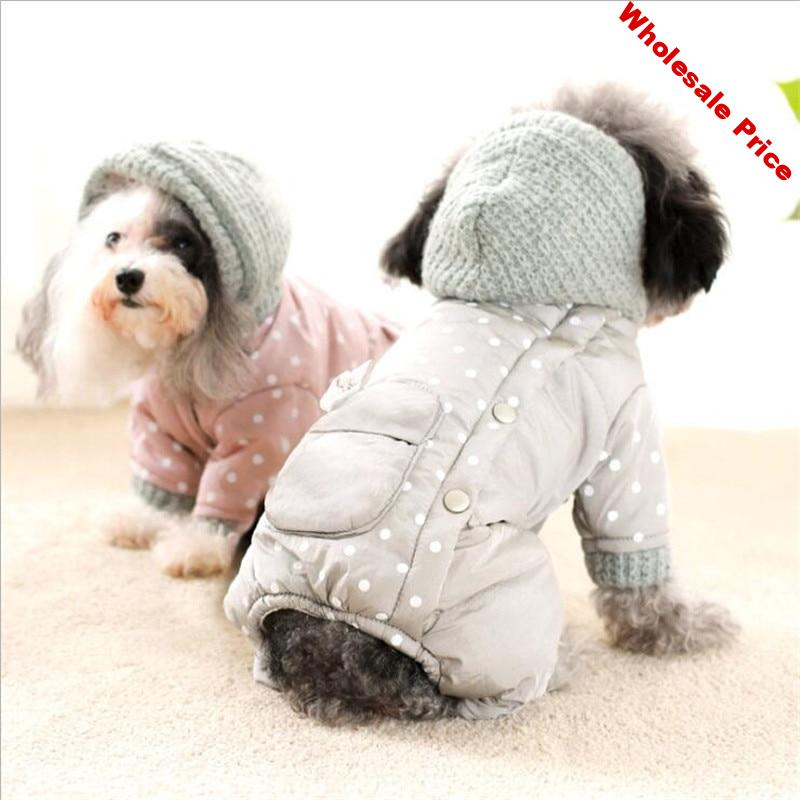 New Pet Clothes Winter Warm Dog Coat Jumpsuit Hoodie Thicken Dog Clothing Dog Outerwear Jacket Products Clothes For Dog Puppy