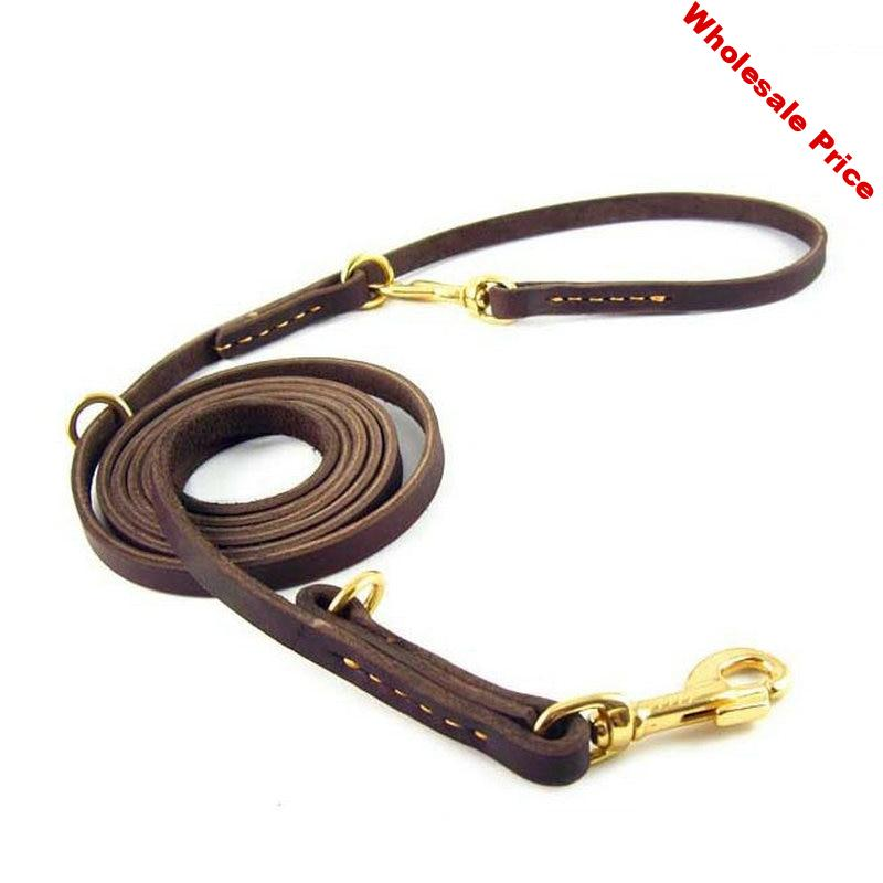 Multifunction 100% Genuine Leather Pet Dog Leash Luxury Strong Hands Free Leash Lead For Small Large Animals 250x1.1cm