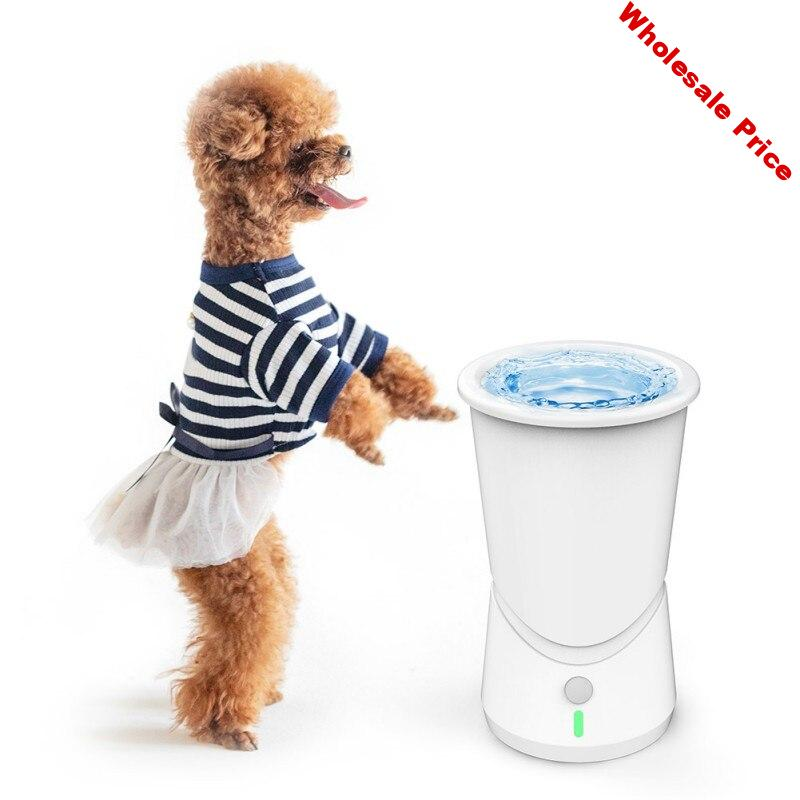 New Electric Dog Paw Cleaner USB Rechargeable Washer Pet Dirty Paw Cleaning Tool Washing Brush Automatic Cleaning Cup Groom F1