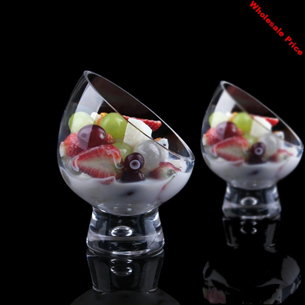 1PCS European oblique salad cup personality ice cream bowl special ice cream cup dessert cold dish small candlestick WF1121425