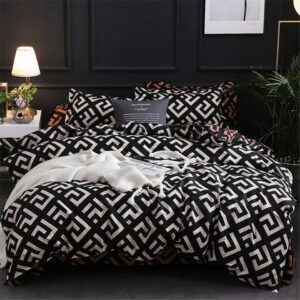 Modern Geometric California King Bedding Sets Sanding Duvet Cover Set Pillowcase  Duvet Covers 229*260 3pcs Bed Set