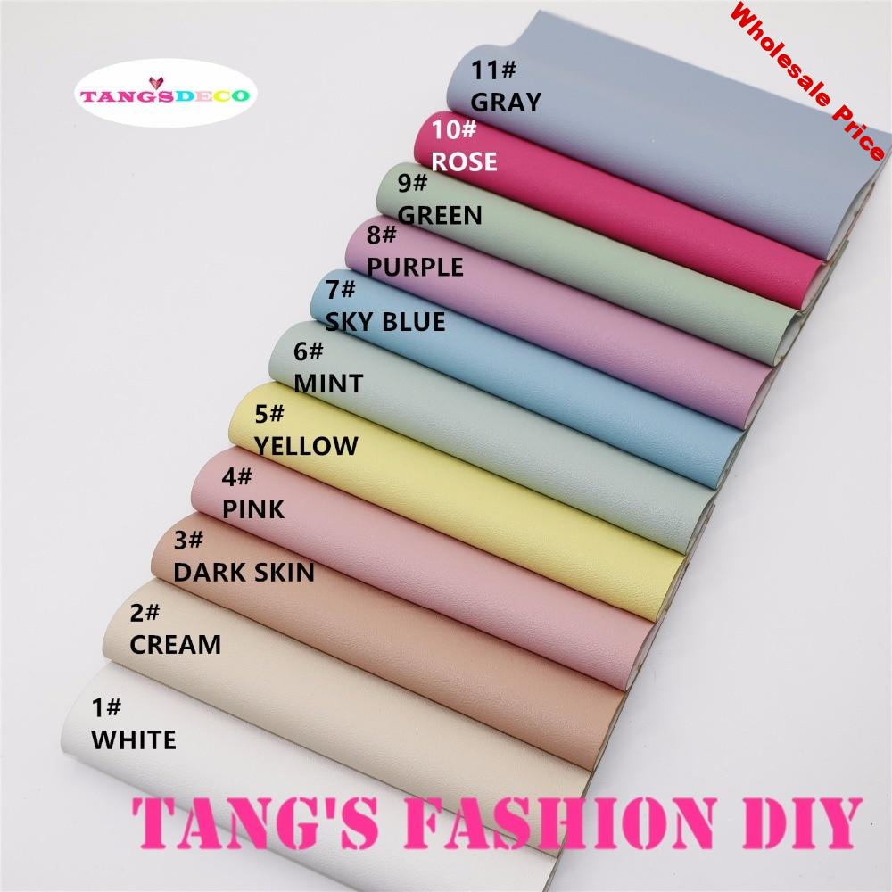 11pcs-High Quality NEW DIY candy color embossed PU leather/synthetic leather 20x22cm per pcs(CAN CHOOSE COLOR)