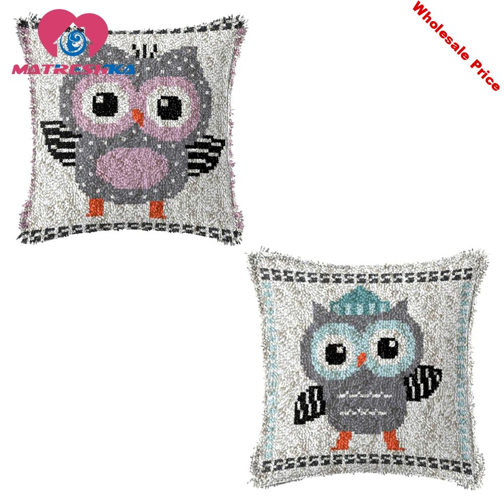 latch hook rug kits cross-stitch pillow needlework button package button package carpet embroidery kit embroidery pillow