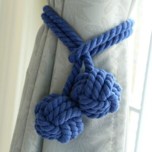Macrame Curtain Tieback Curtain Tied Ball Hand-woven Cotton Straps Hanging Ball Decoration Creative Curtain Accessories