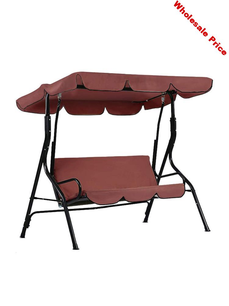 Patio Swing Seat Cover Dustproof Waterproof Replacement Cover For Outdoor Garden Courtyard 3 Seat Swing Chair