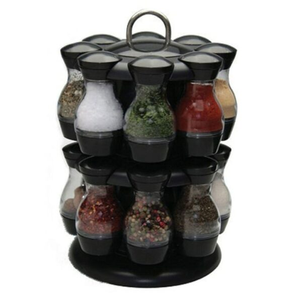 Spinning Countertop Herb Revolving Spice Rack Jars For Spices Organizer Sets For Home Kitchen Spinning Spice Rack 2020