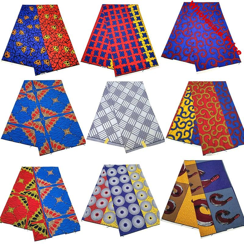 Ankara African prints batik pagne real wax fabric Africa sewing wedding dress crafts material 100% polyester high quality tissu