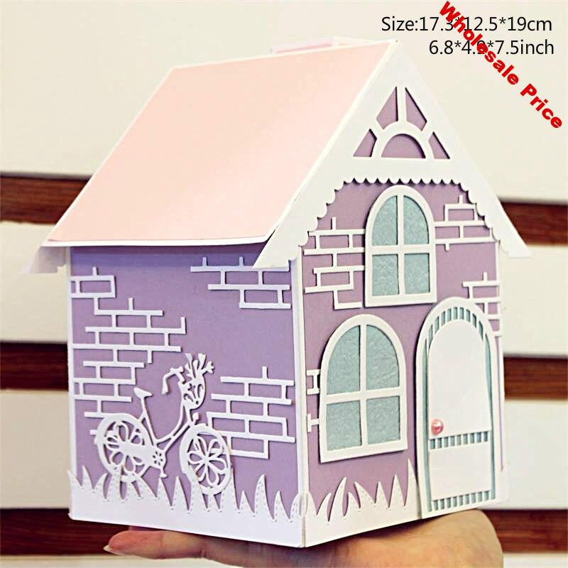 ZFPARTY Big House Tissue Box  Metal Cutting Dies Stencils for DIY Scrapbooking/photo album Decorative Embossing DIY Paper Cards