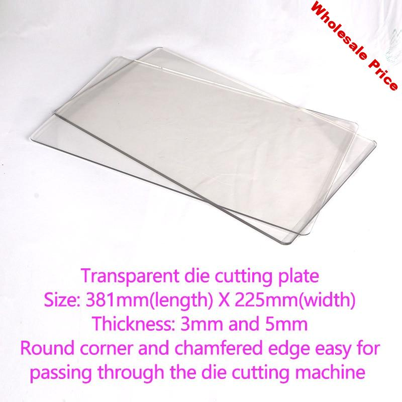 DUOFEN die cutting machine transparent die cutting plate white nylon plate for A4 225mm 381mm Large size die cutting machine