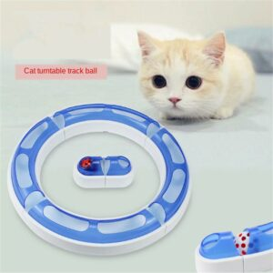 Pet Cat Toys Cat Intelligence Amusement Cat Toys Ball Training Puzzle Game Toy Racing Track Plastic Tunnel  Funny Pet Cat Toys