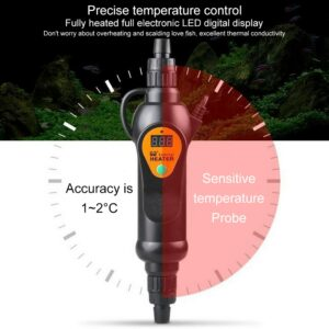220V Adjustable Temperature External Heater for Aquarium Fish Tank 20~35 Degree LCD Dispaly EH-300/500 300/500w Standard Adapter