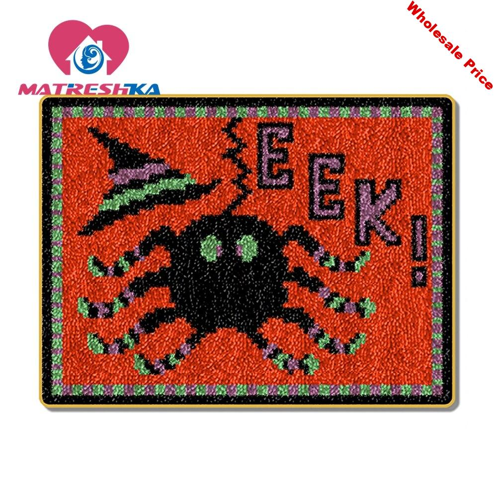 Halloween Carpet embroidery latch hook rug kits carpet embroidery hook needlework button package crafts do it yourself home