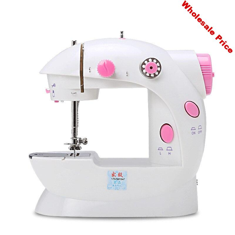 Mini Electric Handheld Sewing Machine Dual Speed Adjustment With Light Foot Single Threads Pedal Sewing Machine Us Plug