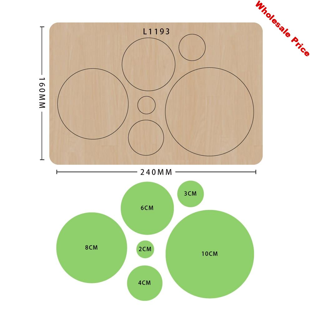 SMVAUON Circles of Different sizes Knife Mold Wooden Cutting Dies For Scrapbooking Making Decor Supplies Dies Template