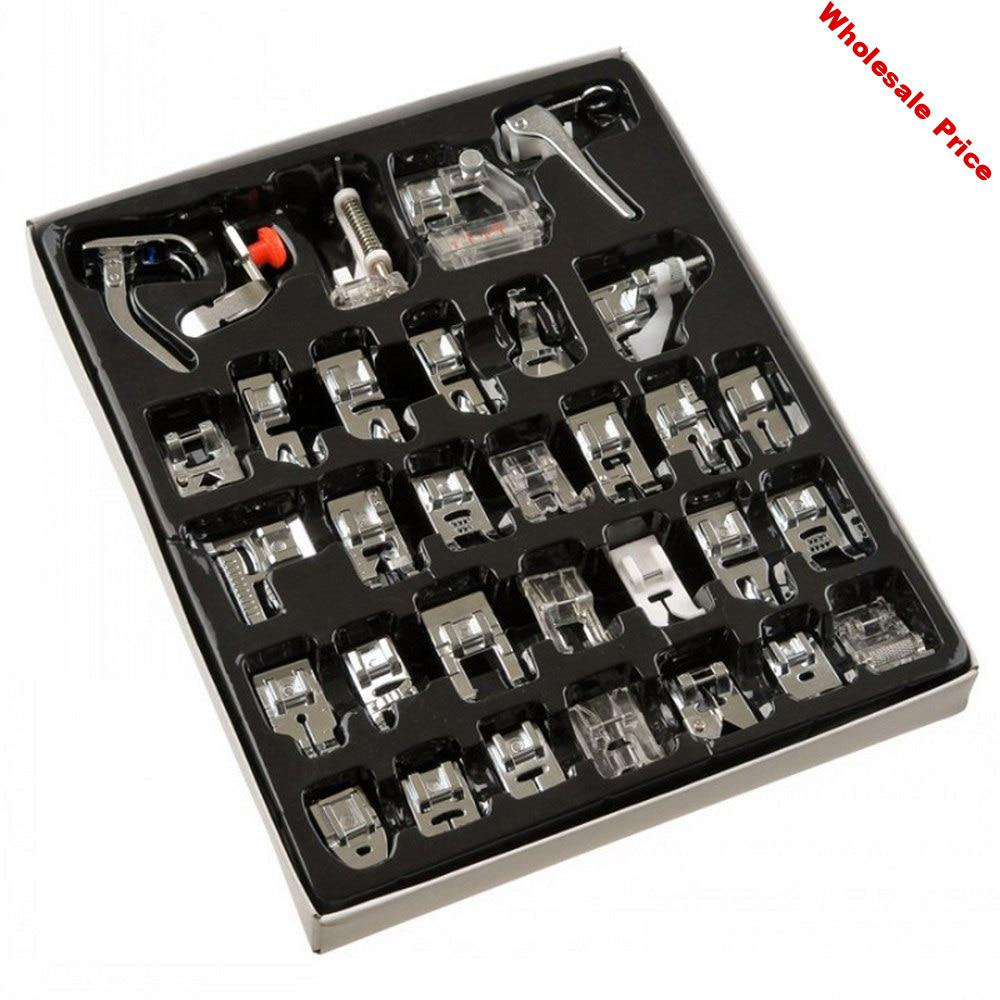 32/42/48/52Pcs Sewing Machine Press Foot DIY Presser Rolled Hem Feet Set for Brother Singer Baby Lock Sewing Accessories