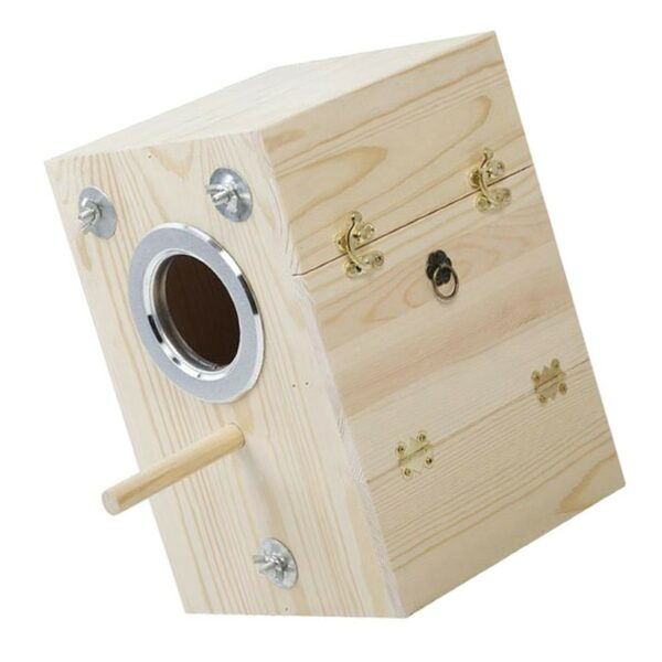 Paulownia Wood Parakeet Bird Nesting Bird Nesting Box House Budgie Breeding Mating Box For Budgie