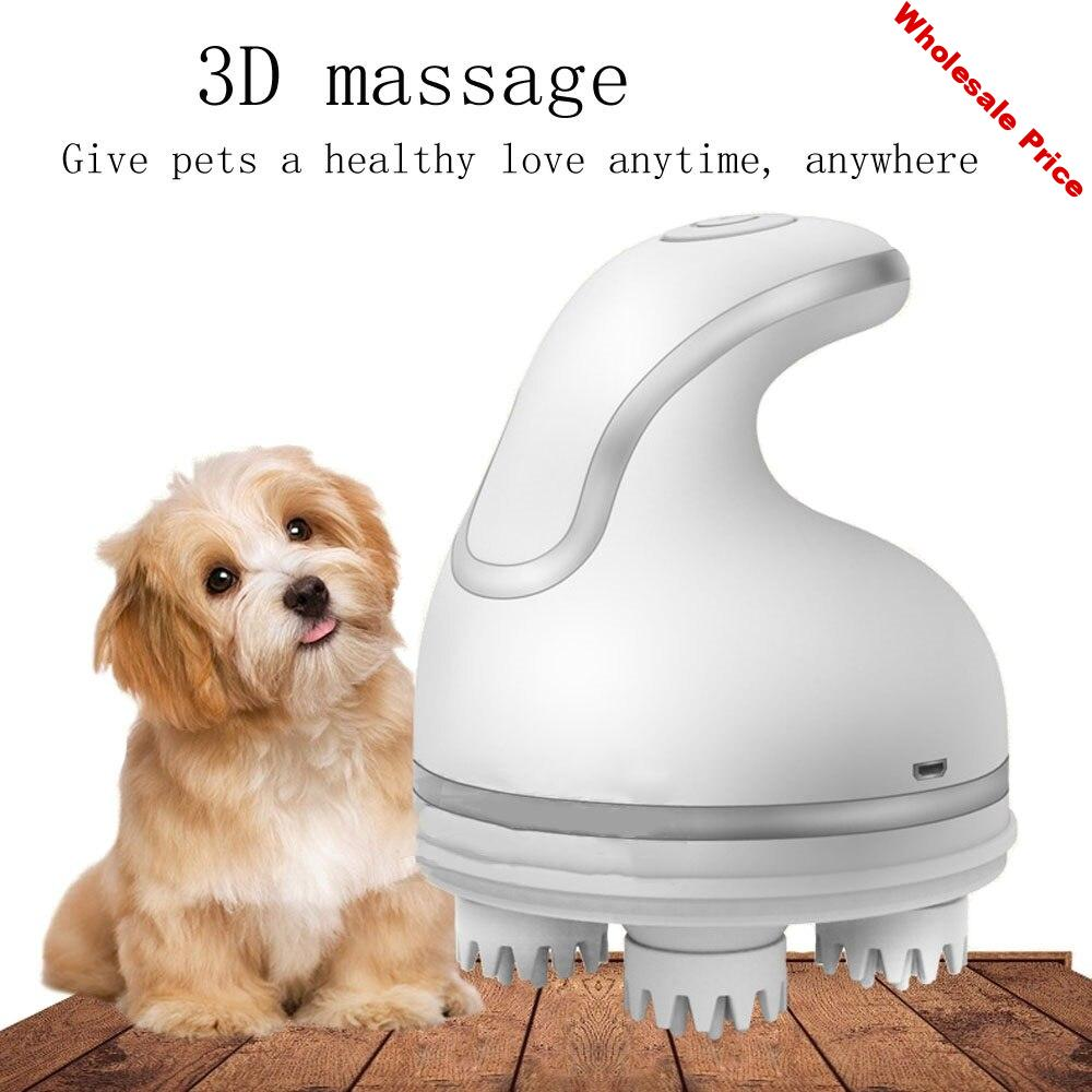 3D Head Massager Omnidirectional Pet Intelligent Automatic Rotate Massager 76 Touch Point Rechargeable Dog Cat Pet Massager