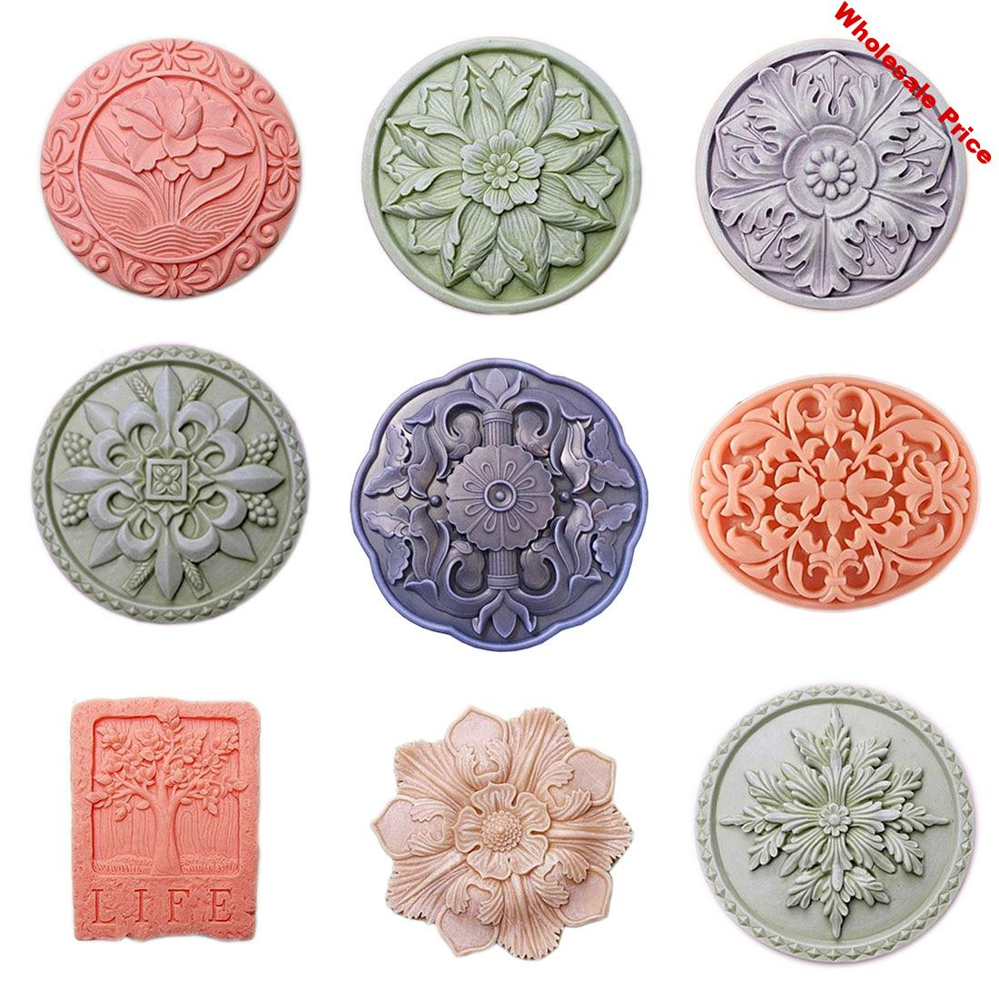 Flower Soap Silicon Molds Lotus Soap Form Tree Soap Making Supplies Round Soap Mold Rectangle Silicone Mold Soap