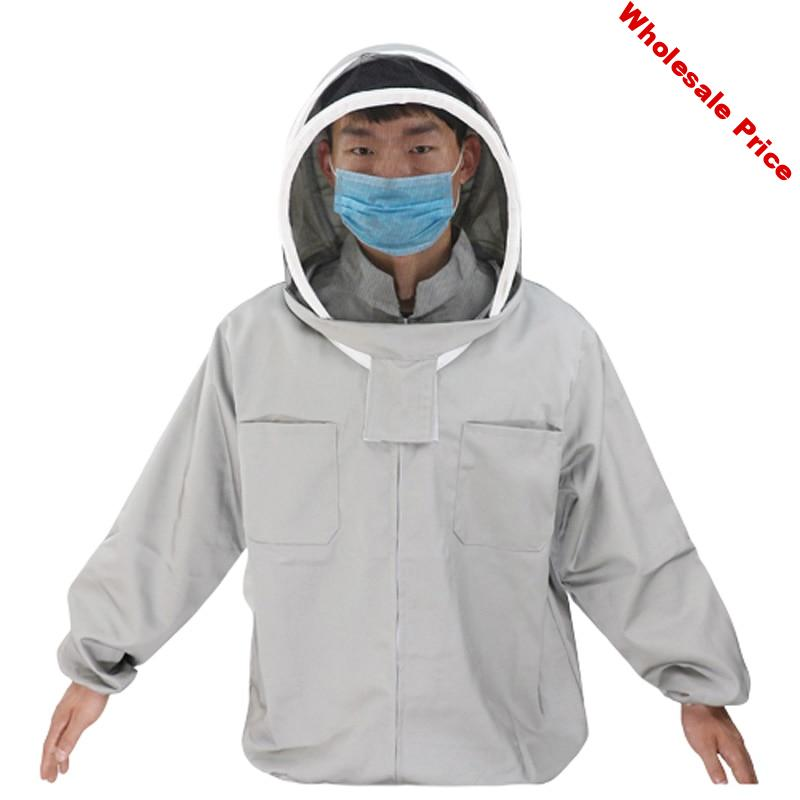 Beekeeping Suit Jacket Veil Set anti-bee clothing New Fabric Beekeeper Clothing Apiculture Protective bee gloves Free Shipping