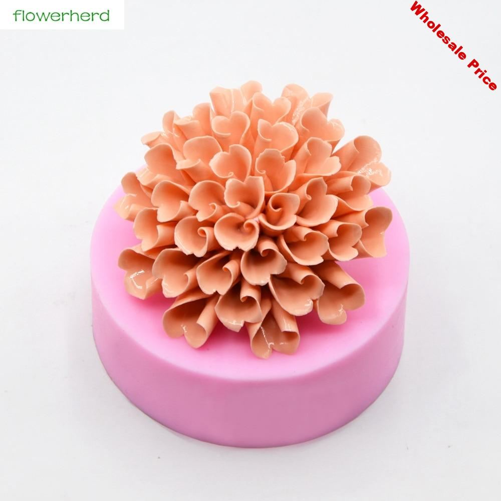 Hydrange Silicone Soap Mold Solid Flower 3D Soap Mold Handmade Fragrance Soap Fondant Cake Decorating Tools Liquid Silicone Mold