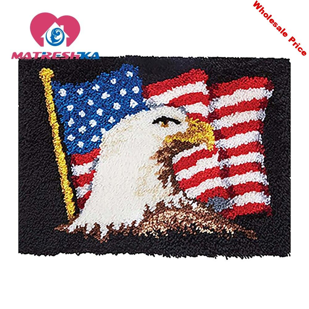 latch hook rug kits carpet embroidery hook needlework button package carpet embroidery Foamiran for crafts do it yourself eagle