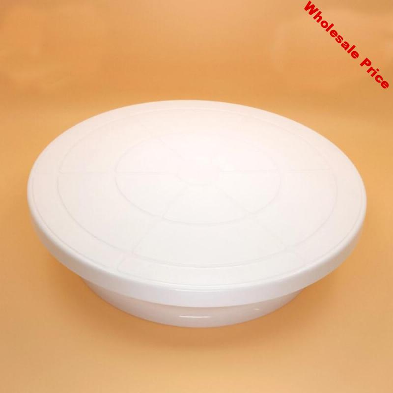 White Pottery Wheel Round Plastic Rotary Turn Plate Polymer Clay Tools Sculpting Model Making Plate Form Clay Swivel Pottery