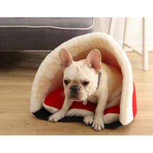 Winter Warm Cat Bed Plush Soft Portable Cute Cat House Cave Sleeping Bag Cushion Thickened Pet Bed Kittens Products 45*40*55cm