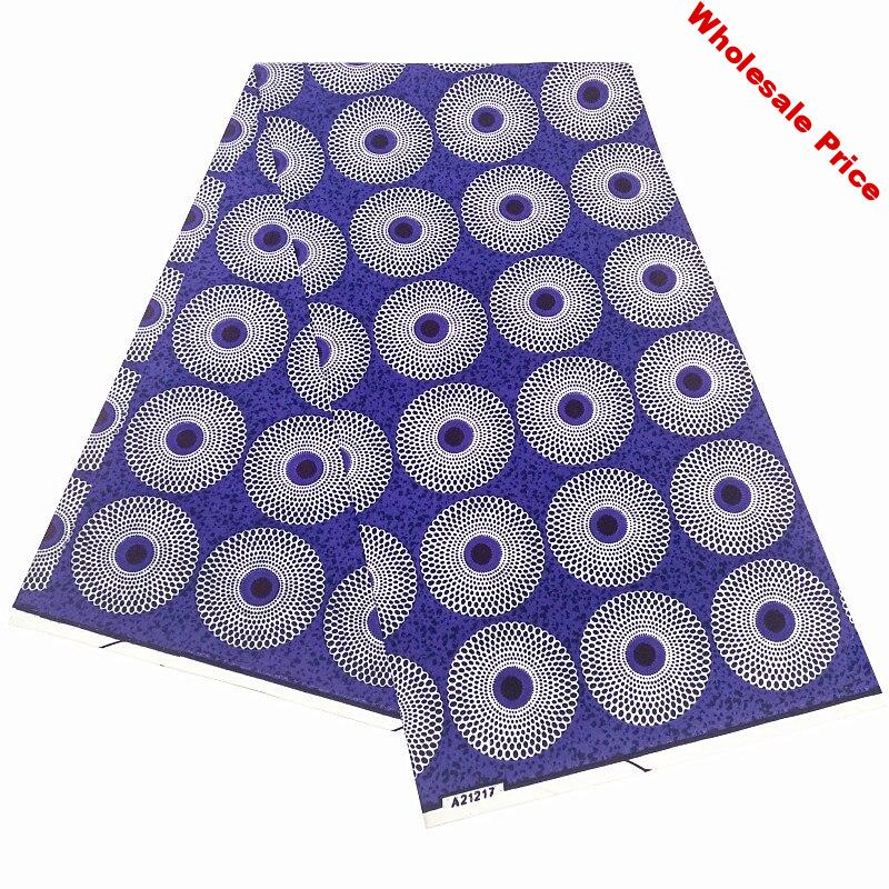 high quality 6yards 100% polyester wax fabric african wax print fabric ankara wax prints fabric wholesale
