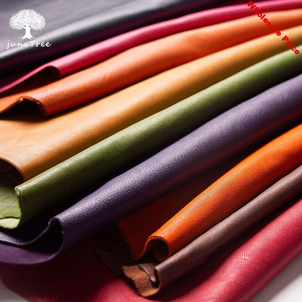 Junetree veg. tanned goat skin leather colors Genuine leather vegetable tanned leather craft shoe clothes thick  1.0 to 1.3 MM