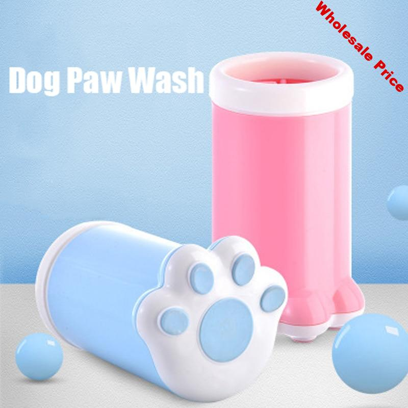 Dog Paw Cleaner Cup Soft Silicone Combs Portable Outdoor Pet Foot Washer Cup Paw Clean Brush Quickly Wash Foot Cleaning Bucket