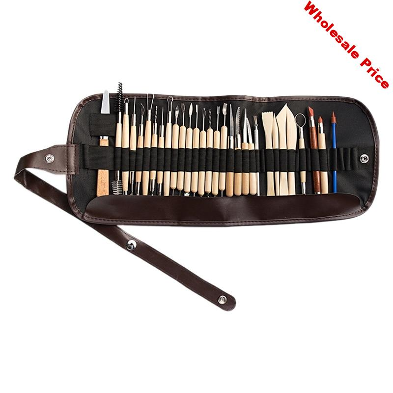 31PCS Clay Sculpting Tools Pottery Carving Tool Set Clay Color Shapers Wooden Clay Kit Tools & Home Improvement