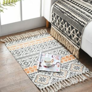 New Cotton Blending Fiber Carpets Decorative Area Rugs For Living Room/Bedroom Entrance Doormat Bedside Rugs Washable Mats