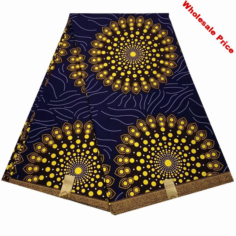 new 100% polyester african fabric ankara fabric sewing material african wax fabric 6yards african wax prints