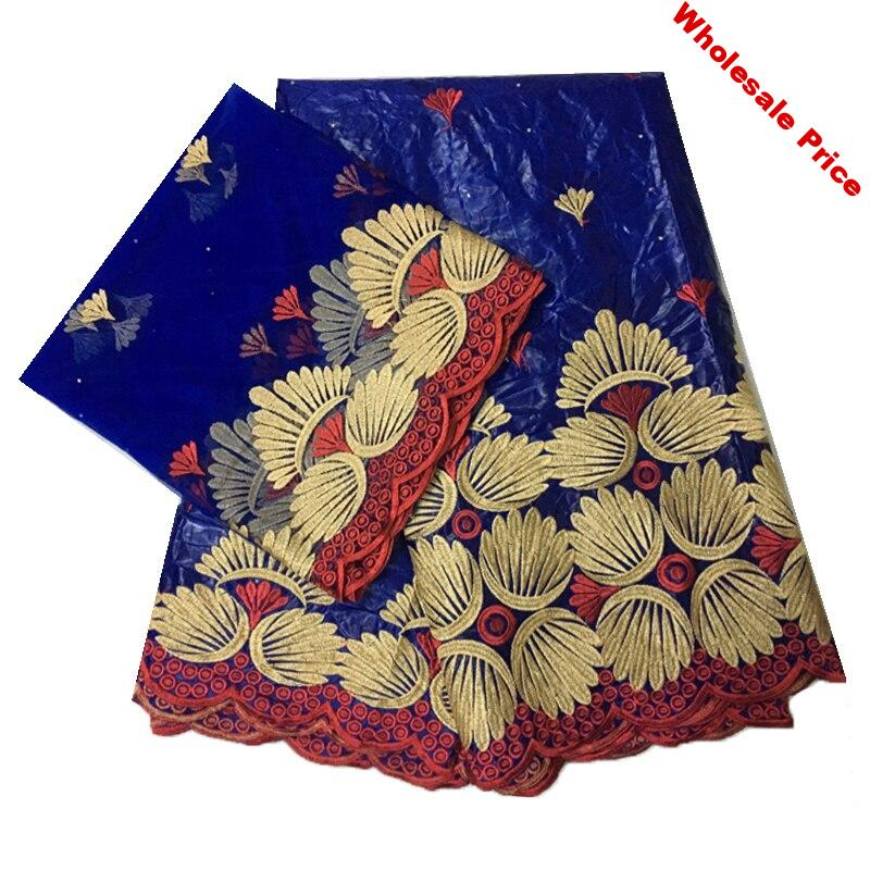 tissu broderie dubai patchwork material african bazin riche getzner high quality embroidery tulle lace nigerian wedding 5+2yards