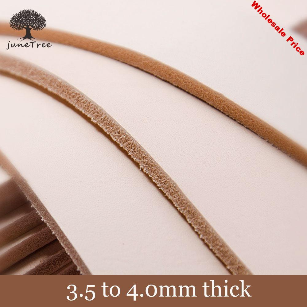 Natural Cowhide thick genuine leather vegetable tanned leather 3.5 to 4.0 mm Full Grain Veg Tanned Leather Piece Handmade DIY