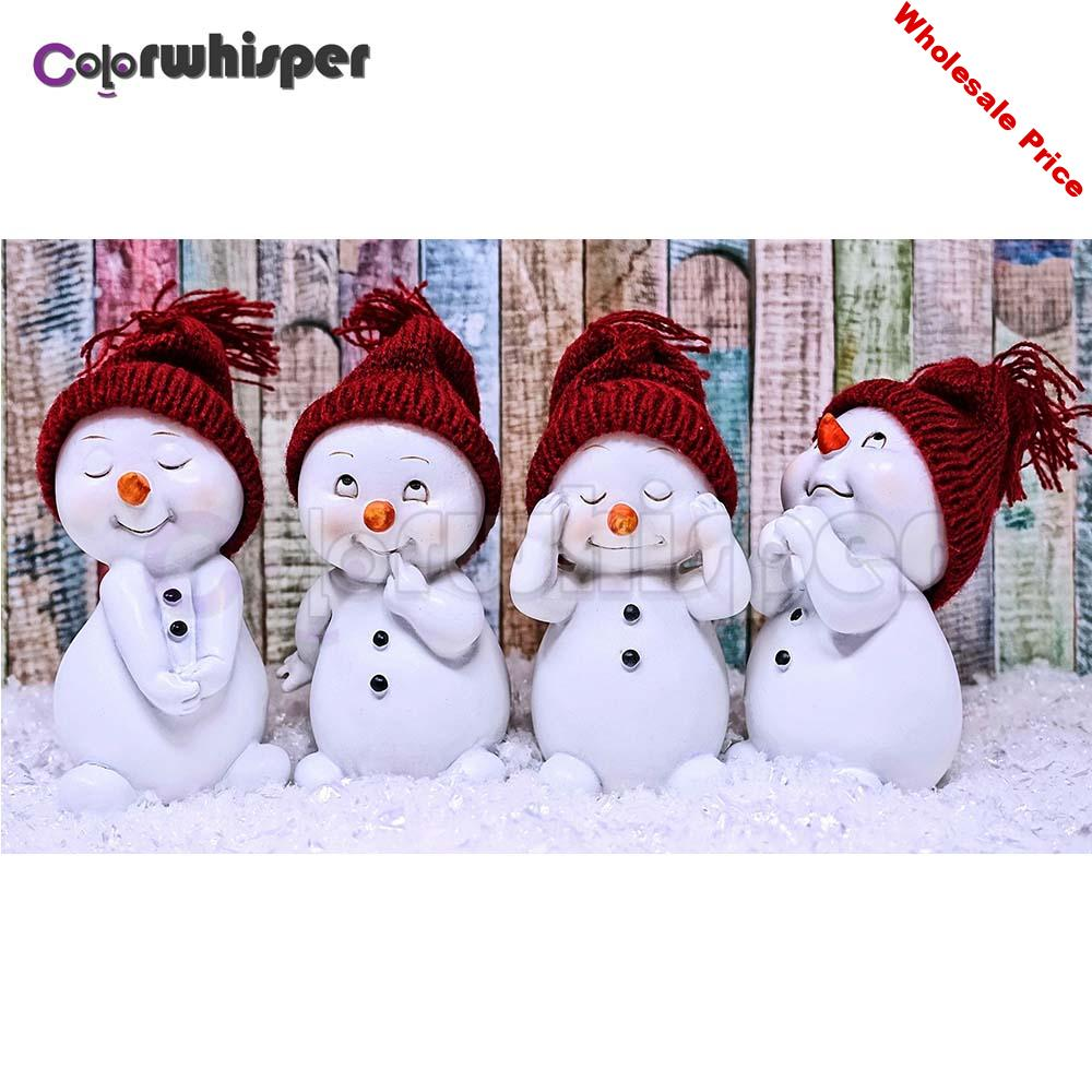 Diamond Painting Full Square/Round Drill snowman snow scene 5D Daimond Painting Embroidery Cross Stitch Picture Wall Art Z1137